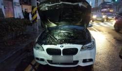 안전 검사 받은 2014년식 <!HS>BMW<!HE> 530<!HS>d<!HE> 주행 중 <!HS>화재<!HE>