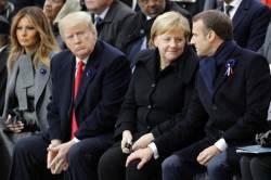 """메르크롱 """"유럽군 창설""""에 <!HS>트럼프<!HE> """"지지율도 낮으면서"""""""