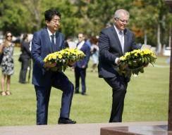 韓 징용 판결 반발했던 아베 총리, 호주 전몰자위령비 찾아 화해 제스처?