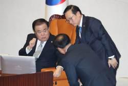 """문희상 """"너무나 부끄럽다""""…여야 밀당에 본회의 불발"""