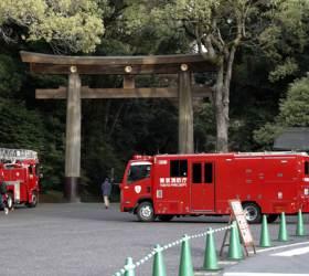 아베 총리 참배한 <!HS>일본<!HE> 유명 신사 메이<!HS>지진<!HE>구 화재