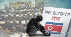 """북한 방송 """"남한의 북한<!HS>인권결의안<!HE> <!HS>채택<!HE> 가담은 배신행위"""""""