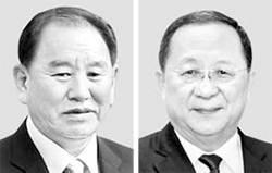협상대표 김영철, 이용호로 바꿔라 … 미국, 북한에 요구