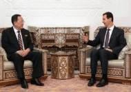 조선중앙통신, 아사드 시리아 대통령과 이용호 면담 보도