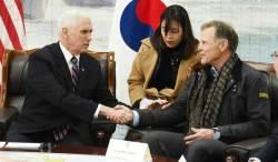 """강경파 펜스 부통령까지 참았다…""""북한 <!HS>인권<!HE>유린 연설 취소"""""""