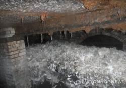 영국 하수관에서 길이 64m 오물덩어리 '팻버그' 발견