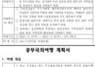 해외연수 계획서 '복붙' 예천군의회