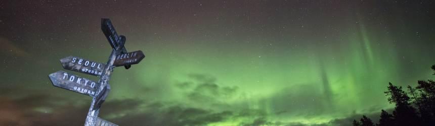 북위 60도 캐나다 설원, 오로라를 만나다
