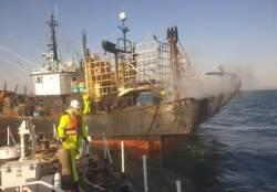 전남 고흥 외나로도 해상서 조업 중이던 어선 화재…1명 사망·1명 실종