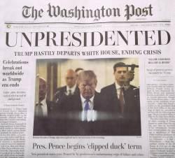 [서소문사진관] '트럼프 대통령 사임하다' 알고 보니 가짜 뉴스