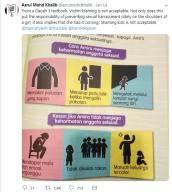 """""""얌전하게 입고 외진 데 피해야""""…말레이시아 성교육 교과서 논란"""