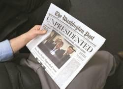 """[사진] """"트럼프 사임"""" 워싱턴 나돈 가짜 신문"""