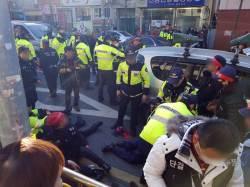 승합차가 '재개발 반대' 집회현장 덮쳐…경찰 등 24명 부상