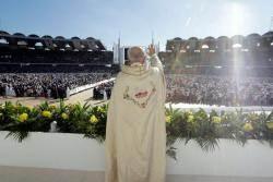 [서소문사진관]프란치스코 교황, 아라비아반도에서 첫 미사