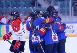 여자아이스하키, 헝가리 6-0 대파하고 2연승