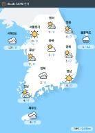 [실시간 전국 날씨] 오후 2시 현재 대체로 흐리고 곳에 따라 눈