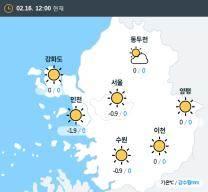 [실시간 수도권 날씨] 오후 12시 현재 대체로 맑음