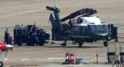[서소문사진관] 미국 대통령 전용헬기 '마린원', 트럼프 보다 먼저 하노이 도착