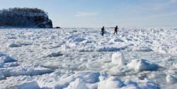 얼음 덮인 바다를 걸었다… 홋카이도의 한정판 겨울 비경