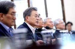 """文, 북·미 회담 앞두고 """"경제·번영의 新한반도체제 주도"""" 천명"""