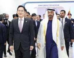 <!HS>이재용<!HE>, UAE 왕세제 보름 만에 다시 만나 5G 기술 공개