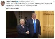 """트럼프 """"땡큐, 베트남"""" 트윗…北 언급 안해"""