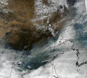 NASA 사진에 딱 걸렸다, 중국 미세먼지 오리발