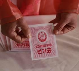 [서소문사진관] 북 최고인민회의 선거...후보는 한 명, 찬반 투표