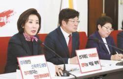 """나경원 """"비례대표 없애고 총 270석"""" 선거제 개편안 추진"""