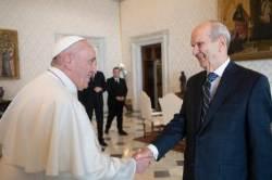 가톨릭 교황, 예수그리스도후기성도교회 회장과 처음 만나