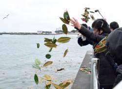 [서소문사진관]동일본 대지진 8년..고귀함 꽃말의 목련잎에 적힌 '잊지 않을꼐요'