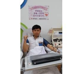 "[<!HS>착한<!HE> <!HS>뉴스<!HE>] 헌혈봉사 23년 ""백혈병 아이들 도와 행복해요"""