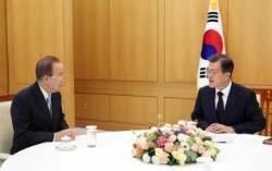 文대통령, 내일 반기문 접견…미세먼지 대책 논의