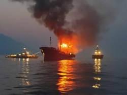 여수 오동도 해상서 494t 석유제품운반선 화재…해경 수색작업 중