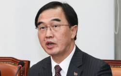"<!HS>조명균<!HE> ""대북특사 필요성 절감…현재 北 입장 정리 기다려"""