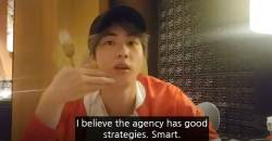 "Reason Why BTS JIN Called BIGHIT ""Smart"""