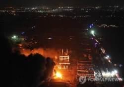 中 장쑤 공단 폭발현장 폭격 맞은 듯 처참…사상자 수백명 달해