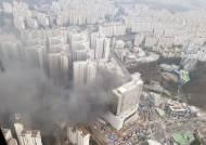 용인시 도심 쇼핑몰 신축 공사장에서 불…13명 부상