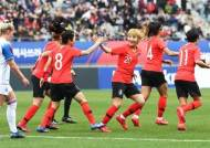 여자 축구대표팀 경기보러 1만5000여명 모여…역대 최다 관중 기록