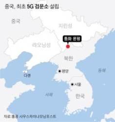 '심상찮은 北, 탈북자 몰릴라'···국경에 첫 5G검문소 세운 中