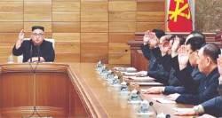 """[단독]김정은 정치국 회의서 """"새 전략노선""""···중대결심 임박?"""