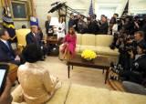 文 대통령, 트럼프 대통령과 116분 만남...비공개 단독 대화는 2분 남짓