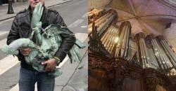 노트르담 성당 화재 현장서 극적으로 회수된 역사적 명물들