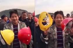 """중국서 800원짜리 불량 안전모 논란…""""튼튼한 건 간부용"""""""