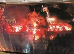 노트르담 성당 꼭대기서 불 끈 소방관이 전한 화재 당시 상황