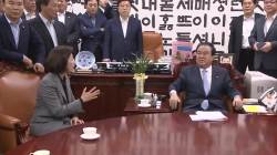 [영상]나경원 이끄는 한국당과 <!HS>문희상<!HE> 충돌…고성ㆍ몸싸움으로 아수라장 된 의장실
