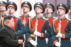 [사진] 김정은 오늘 <!HS>푸틴<!HE>과 정상회담