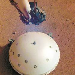 [사진] 인사이트호, 화성 <!HS>지진<!HE> 첫 포착