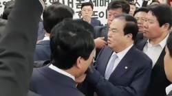 밤샘농<!HS>성<!HE>→몸싸움 →<!HS>성추행<!HE> 논란 →쇼크 입원→문병 '막장 여의도'