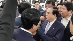 밤샘농성→몸싸움 →성추행 논란 →쇼크 입원→문병 '막장 여의도'